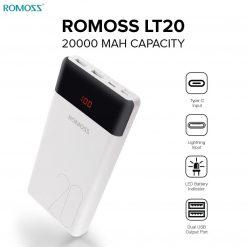 Buy Romoss Fast charging Lt20 20000mah Power Bank Price in Pakistan