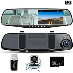 Buy Online Dvr Mirror Dual Camera Front/back Price In Pakistan